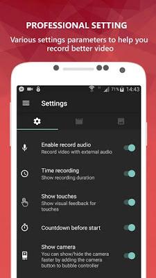 تحميل تطبيق لتسجيل الشاشة باحترافية AZ Screen Recorder
