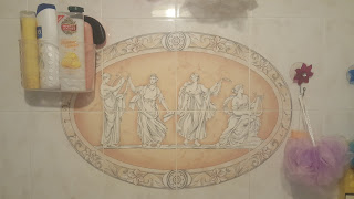 The Old Tiles in the horrid Bathroom