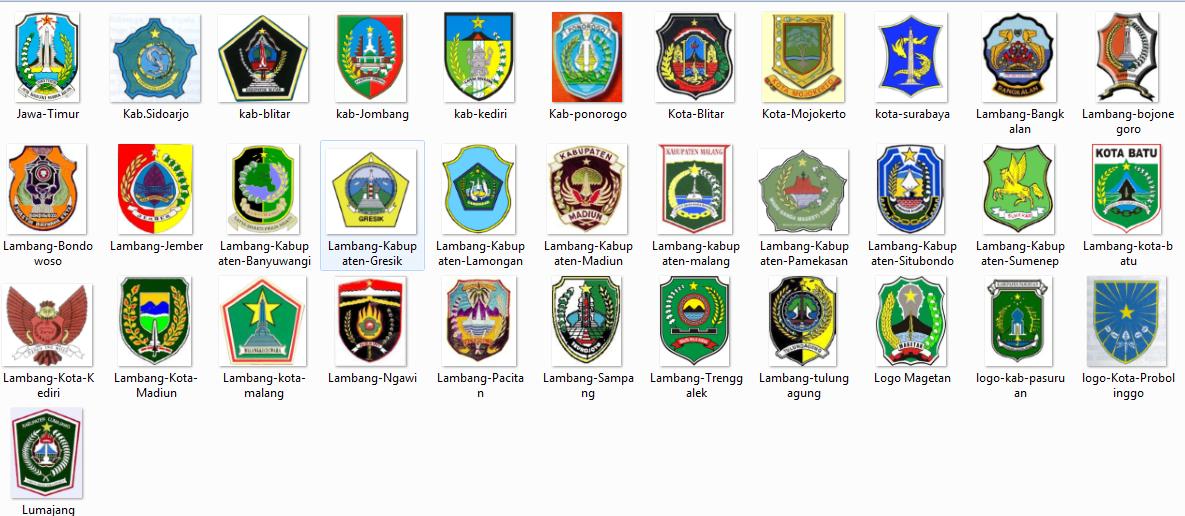 Kumpulan Logo Kabupaten dan Kota se Jawa Timur