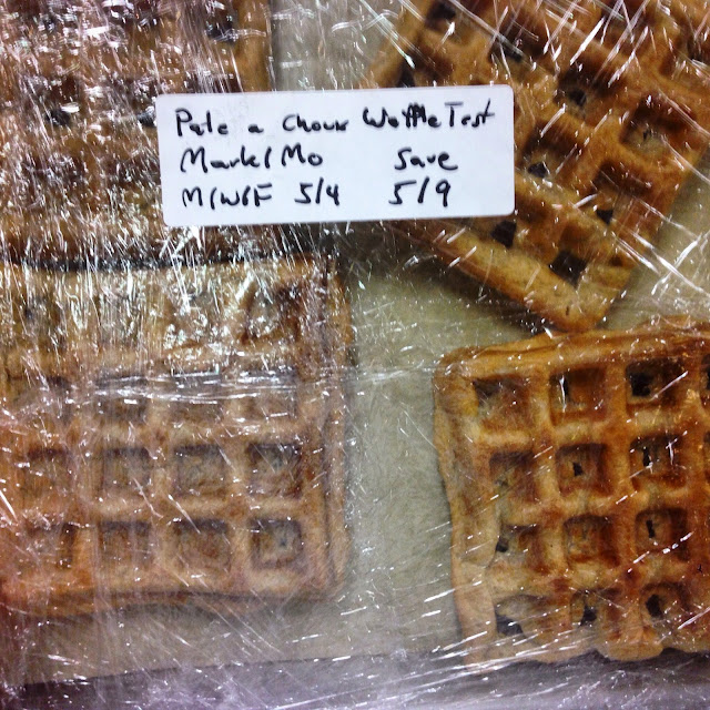 Pate a Choux Waffles Wrapped to be Frozen