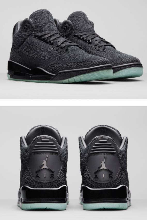 20acd25c581a2e Here isa detailed look at the new Air Jordan 3 Flyknit Retro Sneaker which  features a flyknit upper with your classic mid and outsole avaiable at 10am  EST ...