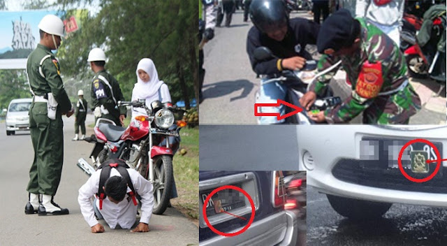 Operasi WASPADA WIRA CLURIT 2017: Awas..., Jangan Berani-Berani Pasang Stiker TNI Di Kendaraan Pribadi