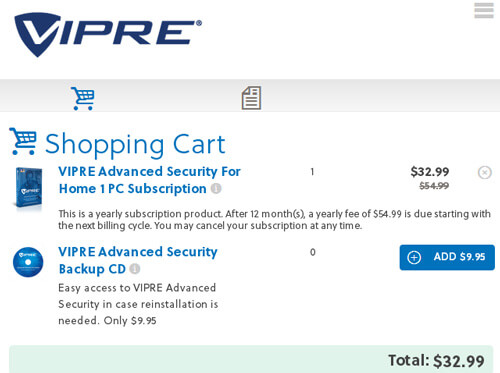VIPRE Advanced Security Coupon