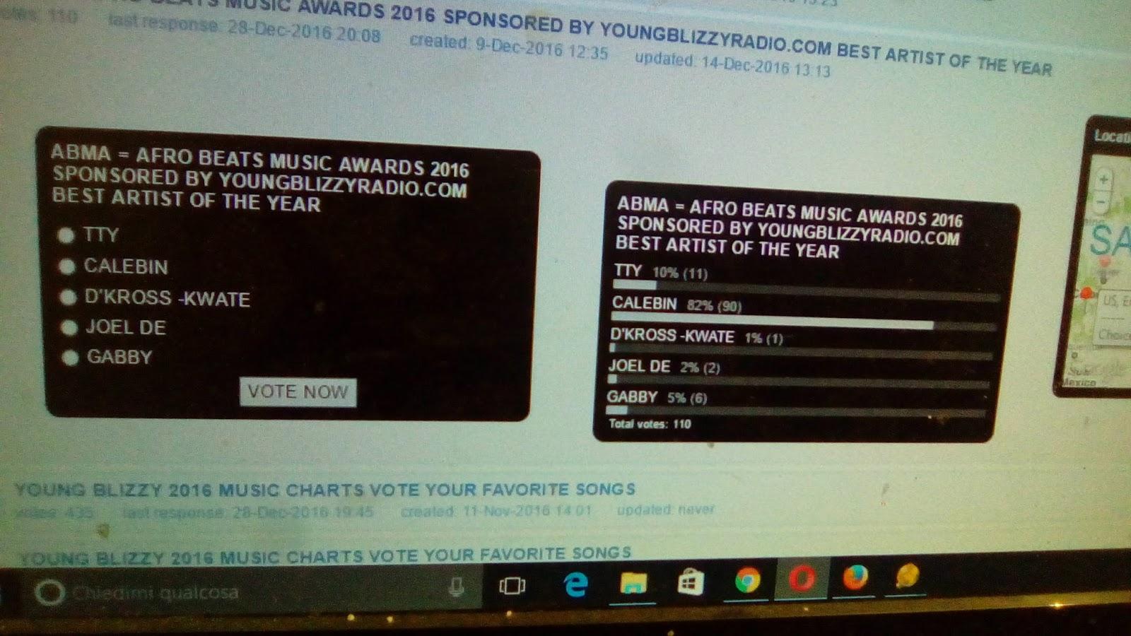 YOUNGBLIZZYRADIO COM: ABMA AWARDS 2016 = AFRO BEATS MUSIC