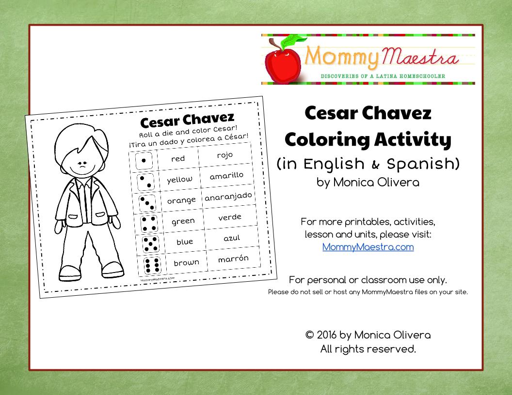 Uncategorized Cesar Chavez Worksheet mommy maestra free downloads activity worksheets cesar chavez coloring activity