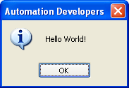 AutoIt Simple Message Box - Hello World