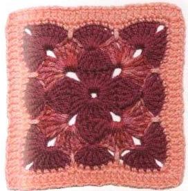 Patrón #1794: Cuadrado Tricolor a Crochet