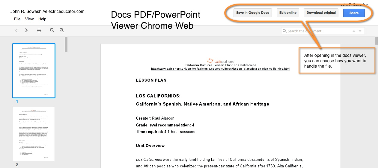 the electric educator chrome extension docs pdf powerpoint viewer