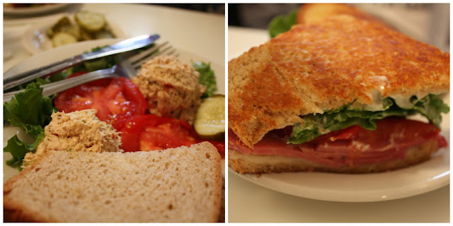 Sandwiches and salads at Lagomarcino's