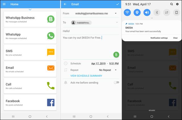 جدولة رسائل Gmail لإرسالها في وقت محدد على الكمبيوتر أو الهاتف Screenshot_20190417-214928_SKEDit