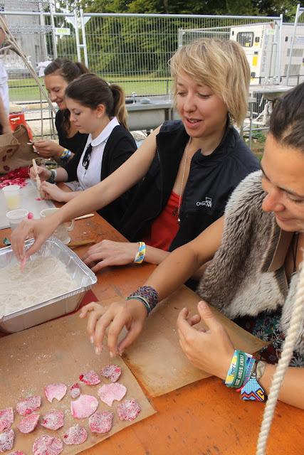 Barbie production line: crystallising rose petals