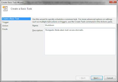 Membuat Jadwal Shutdown Otomatis Windows 7