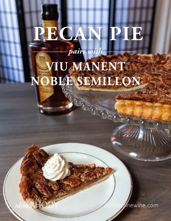Pecan Pie recipe and dessert wine pairing idea