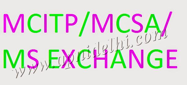 MCITP MCSA Exchange Training