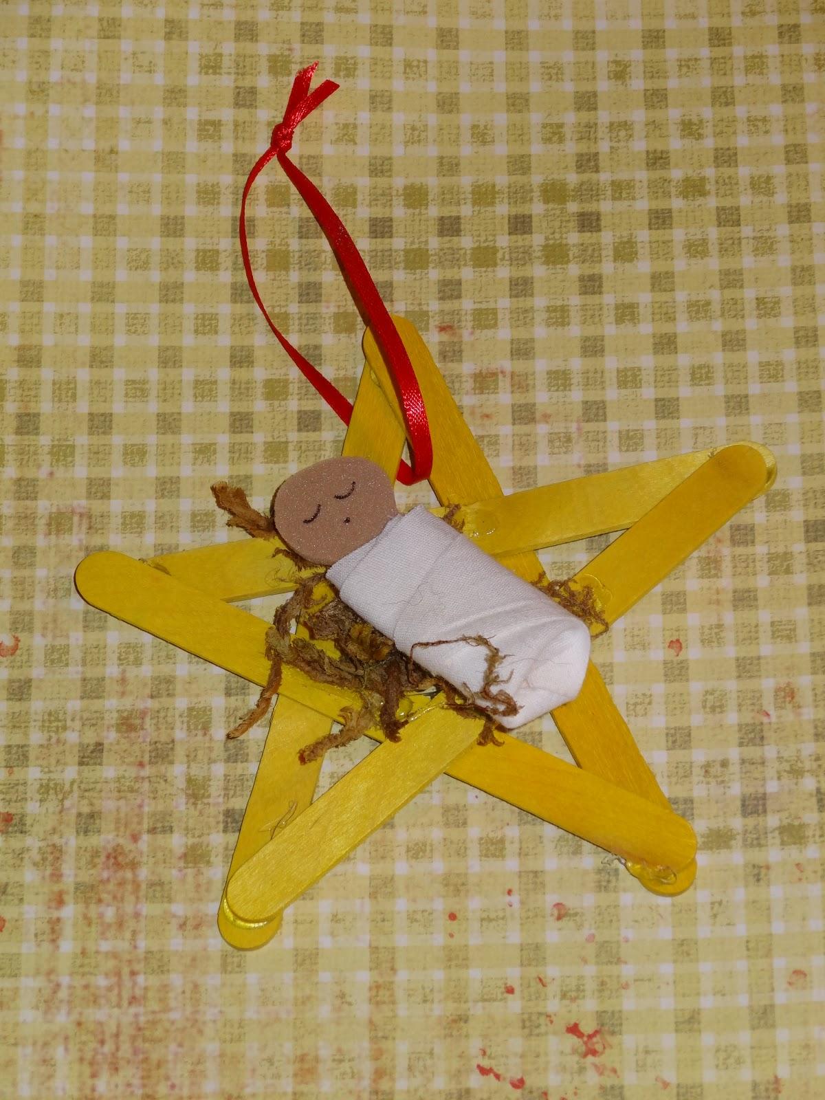 Christmas Jesus Craft Preschool Ornaments