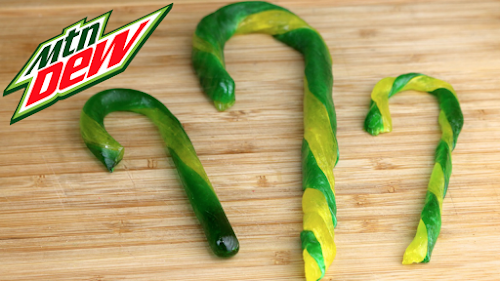 Mountain Dew Candy Canes