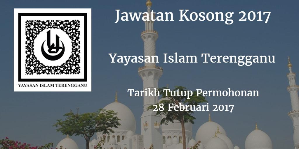 Jawatan Kosong Yayasan Islam Terengganu 28 Februari 2017