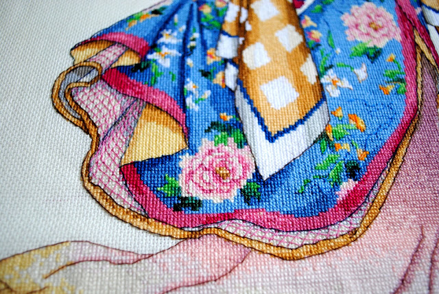 Dimensions Gold, Elegance of the Orient, Cross Stitch, work in progress, WIP, pulltheotherthread, Oriental cross stitch