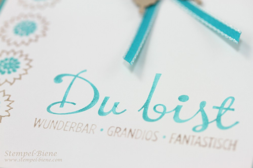 Stampin' Up Bordering Blooms, Stampin up Fantastische Vier, Stampin Up Stempelparty, Grußkarte basteln