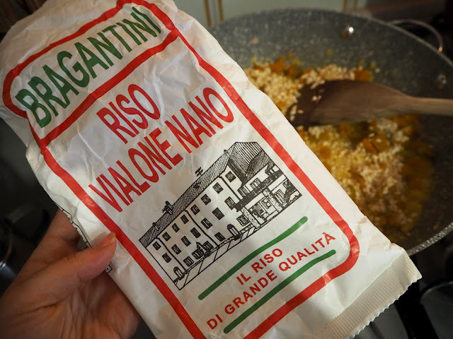 italské dýňové risotto - typ rýže na italské krémové risotto