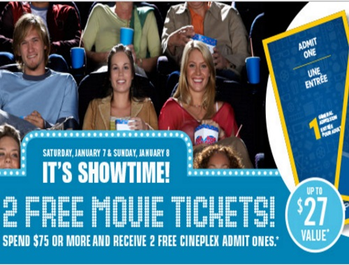 Shoppers Drug Mart Free Cineplex Odeon Movie Tickets