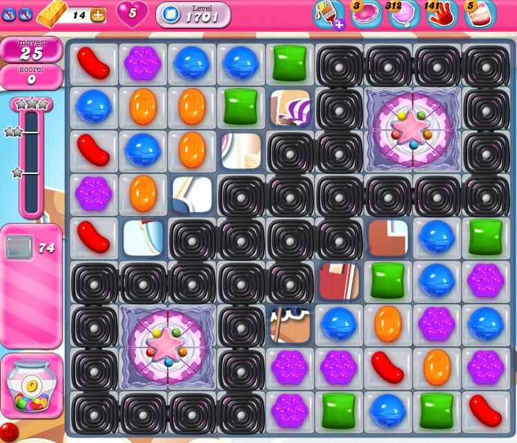 Candy Crush Saga 1701