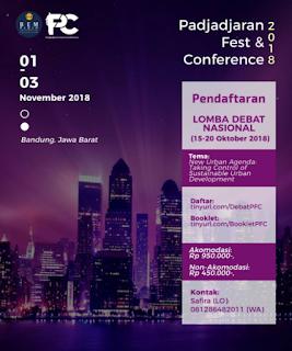 Lomba Debat Nasional PFC 2018 di Universitas Padjadjaran