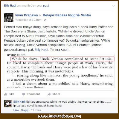 Salah Grammar Harry Potter