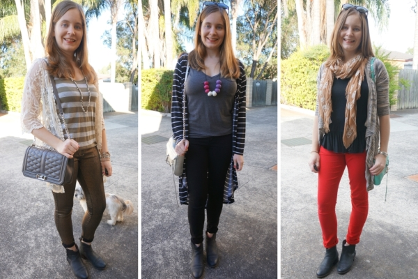 rolled cuffed skinny jeans and ankle boots petite friendly | Away From Blue Blog