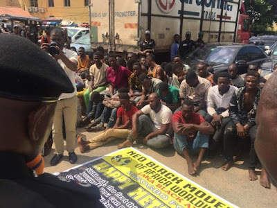 Over 100 Cultists Arrested By Police During July 7th Celebration In Lagos (Photos)