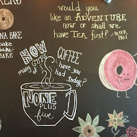 Lauren Banawa, May Moments of the Month, chalkboard wall, coffee shop
