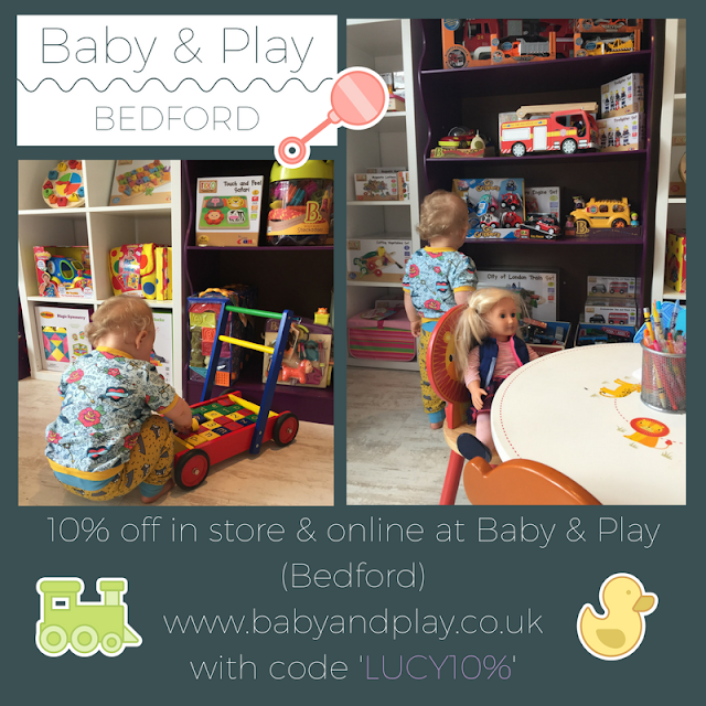 10% off at baby and play Bedford in store and online