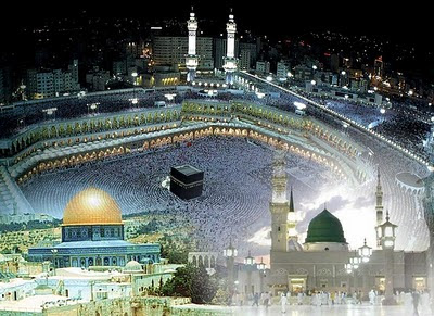 Image result for holy kaaba and masjid aqsa