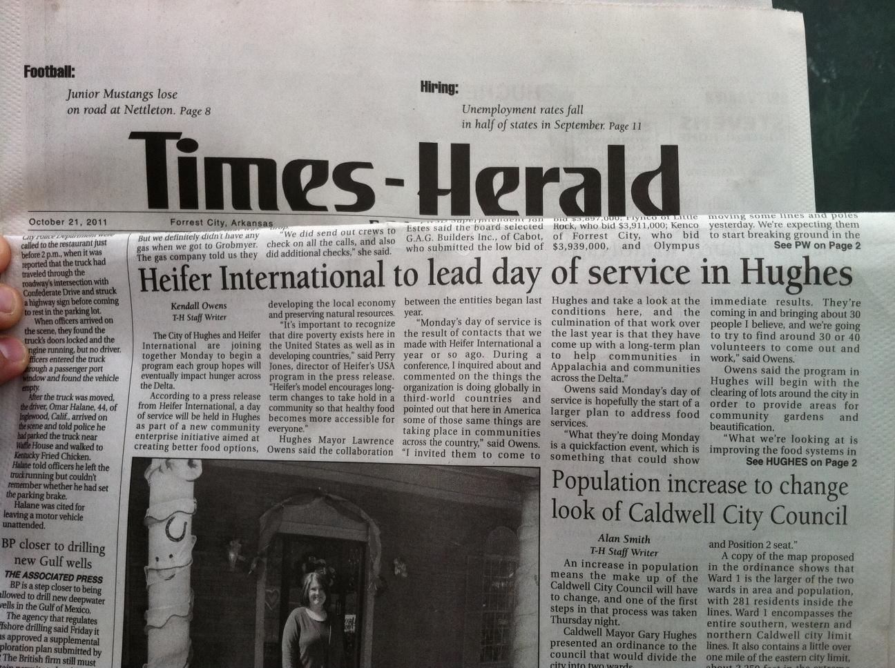 Heifer Staff Lend a Hand in Hughes, Arkansas