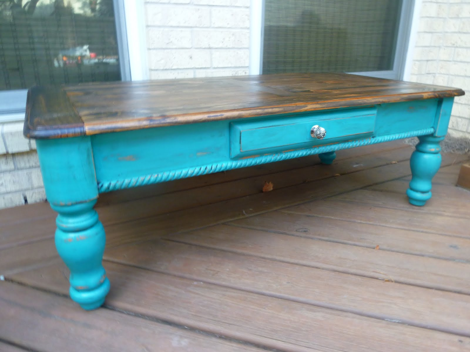 Eat Cake Too Turquoise Coffee Table 200 Sold