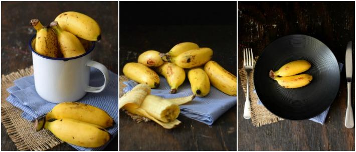 Collage de fotografía de alimentos: guineos