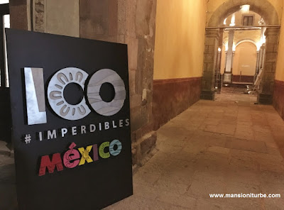 The 100 Imperdibles de Mexico coctkail at the Ex Convento de Santa Rosa de Viterbo in Querétaro