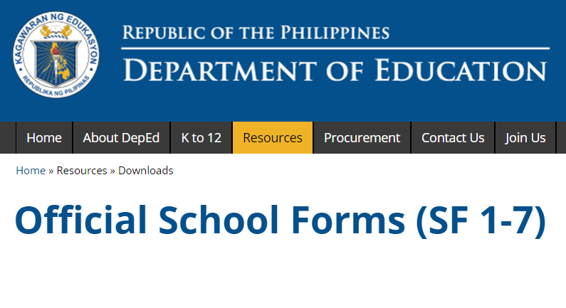Automated deped official school forms sf 1 7 deped tambayan ph automated deped official school forms sf 1 7 fandeluxe Choice Image
