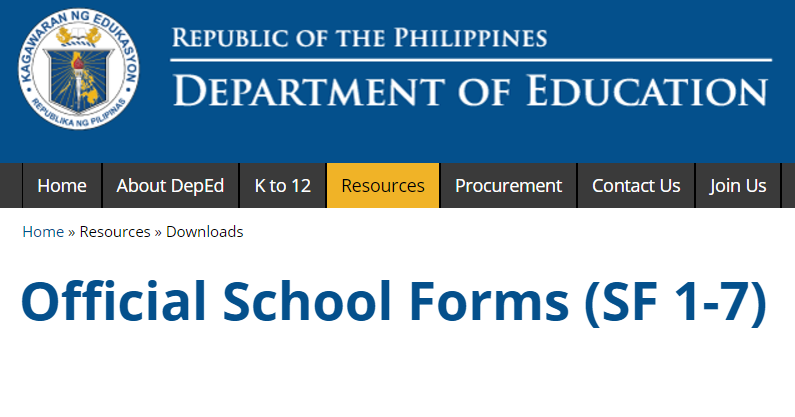 Downloadable Forms From Deped - a-k-b info