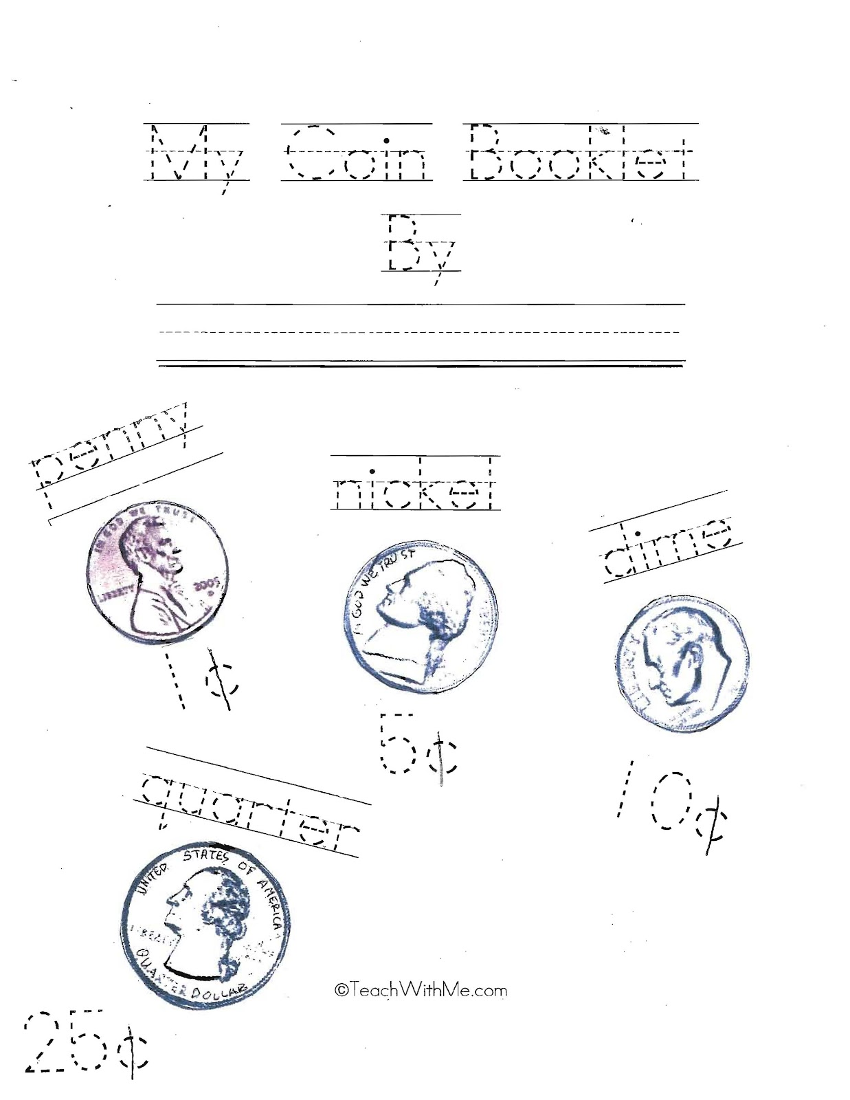 Classroom Freebies My Coin Booklet