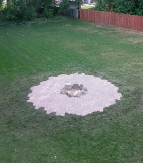 fire pit aerial view