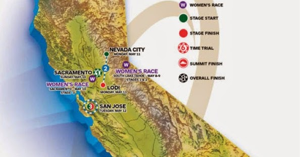 Route of 2015 Amgen Tour of California announced Pedal Dancer