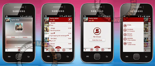 BBM Mod For Android Gingerbread ArmV6 Style Elegant Red