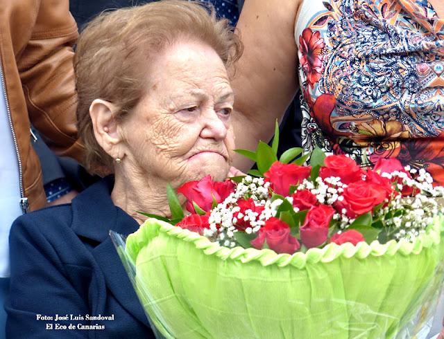 mujer homenajeada el día de la madre en Arucas, El Trapiche