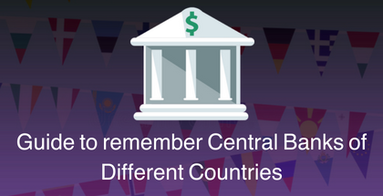Guide to remember Central Banks of Different Countries: