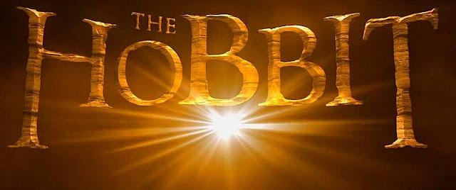 Letreiro do Filme o Hobbit com uma Luz Brilhante embaixo