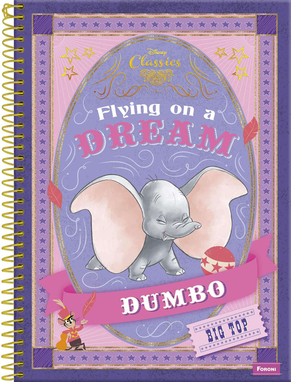 O encantador elefante Dumbo, que retorna aos cinemas nesta semana, é destaque na linha Disney Classics 2019 da Foroni!