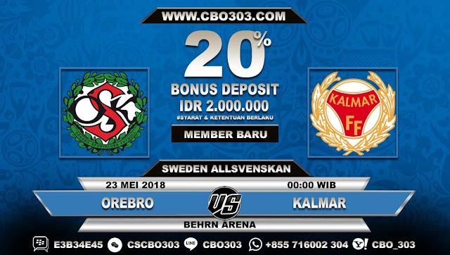 Prediksi Bola Orebro VS Kalmar 23 Mei 2018