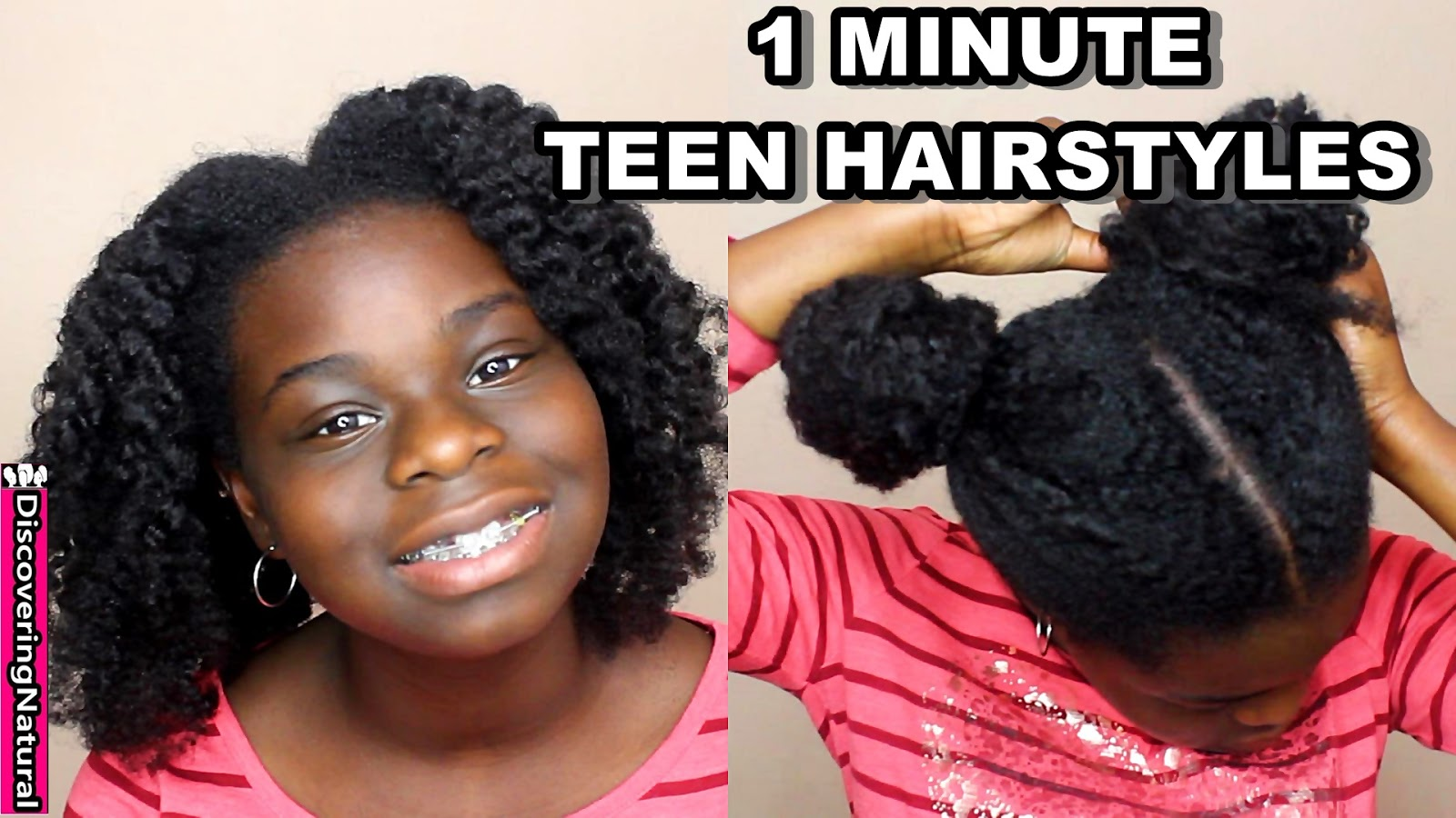 discoveringnatural: 4 easy teen natural hairstyles you can