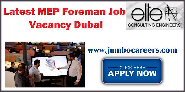 MEP Foreman Job Vacancy Dubai